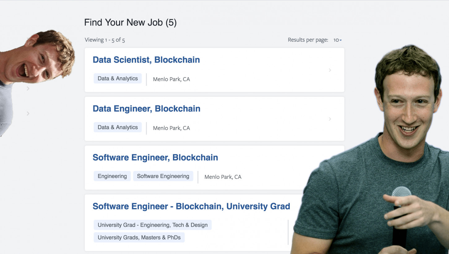Facebook Is Hiring More Blockchain Experts