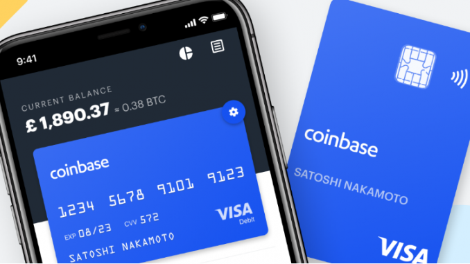 Coinbase Announces Crypto Visa Card for UK Customers